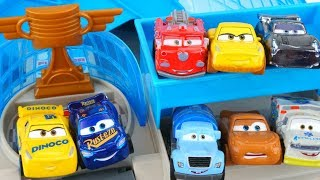 New Cars 3 Mini Racers Florida 500 Racetrack Playset Red Mr Drippy Frances