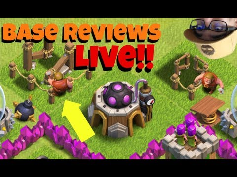 🔴 Clash of Clans Base Reviews Ep. 36   Thanksgiving Edition - Live Stream