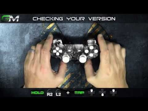 Checking the version of your GamerModz PS3 Modded Controller