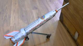 1960s Tin Toy Rocket Space Ship Holdraketa Made in Hungary