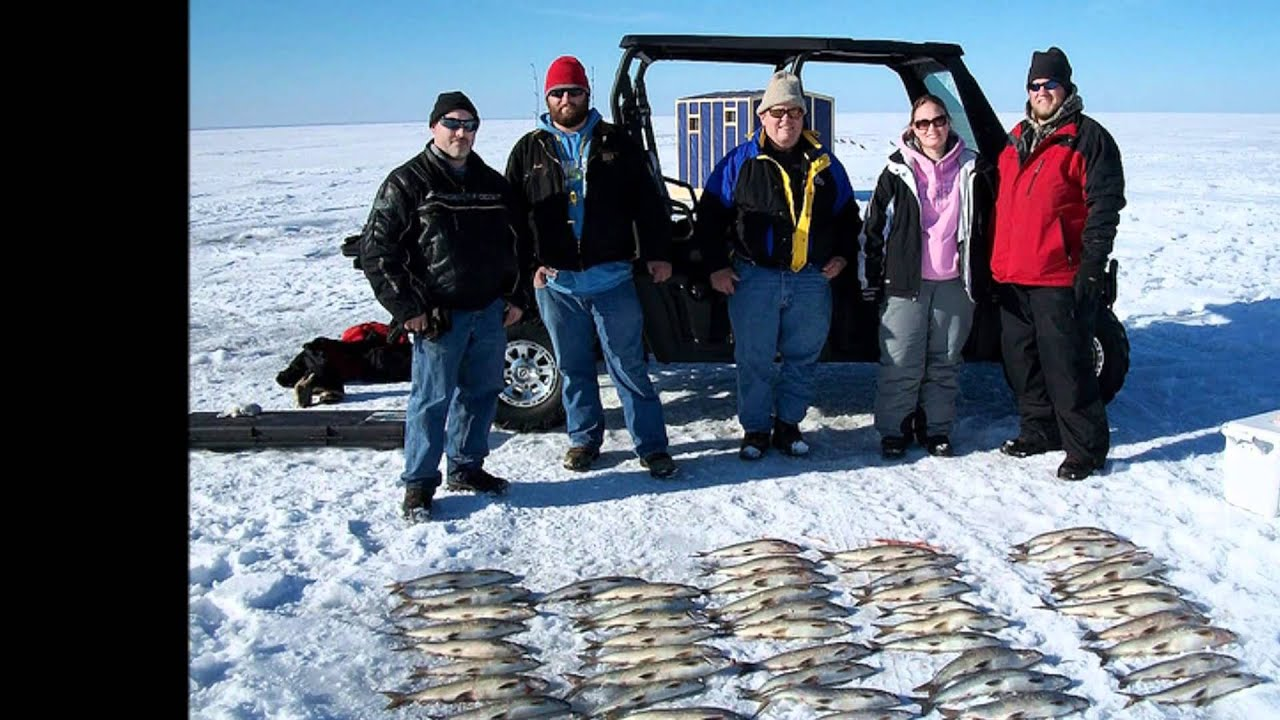 Door county ice fishing whitefish shack rentals youtube for Door county fishing report