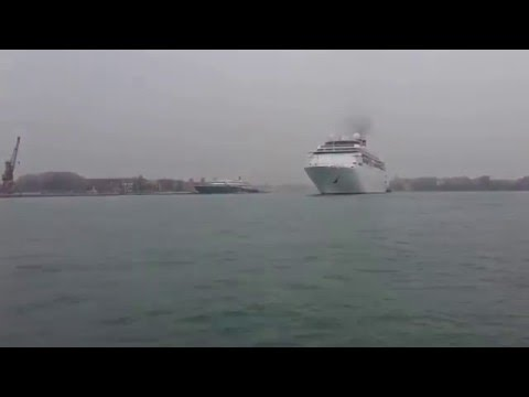 Costa Classica - large cruise ships passing through Venice