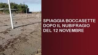 SPIAGGIA BOCCASETTE NUBIFRAGIO 12 novembre 2019