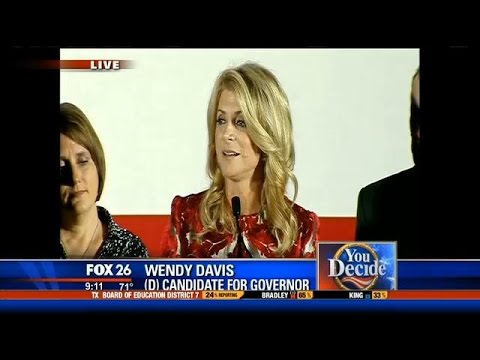 Texas gubernatorial candidate Wendy Davis delivers concession speech