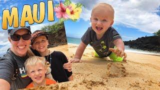 MAUI!! Owen, Don't Eat Sand!!