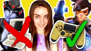 PC Player TRIES Console OVERWATCH?!