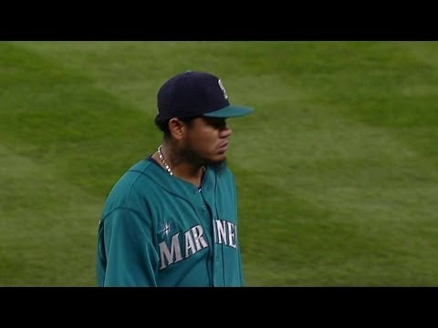 King Felix ejected on his way to dugout