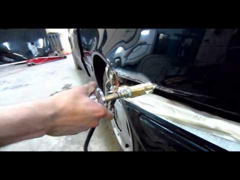 Выпрямление и покраска заднего крыла Mercedes w210
