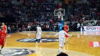 Arda Turan playing in the Turkish 'All Star' basketball game