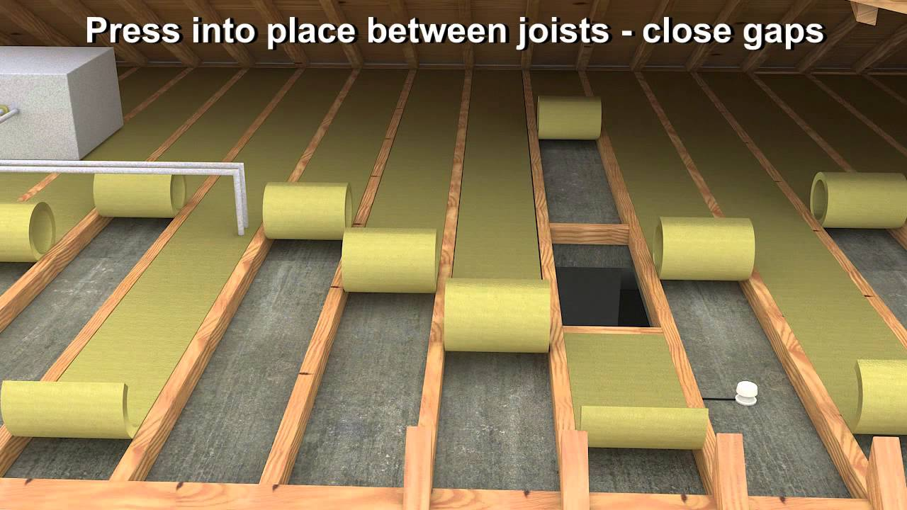 Rockwool twin roll installation video youtube for Mineral wool installation