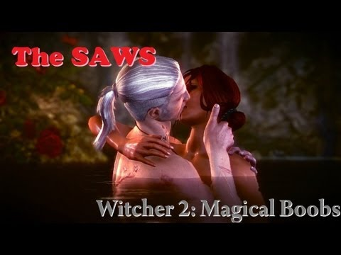 The Witcher 2 - Elven Ruins Sex Scene (magical Boob Reveal) video