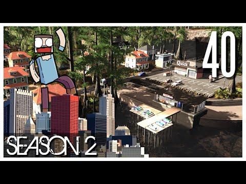Cities Skylines - S2 Ep.40 : Local Ferries & Swamp Community!