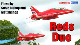 """REDS DUO"" at Weston Park International Model Show 2018 (Red Arrows RC BAe Hawks)"