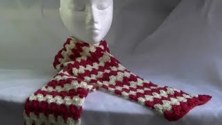 Scarf / Afghan / Blanket Crochet Tutorial - Granny on the Straight - Variation 1
