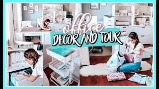 OFFICE TOUR | CLEAN & DECORATE MY OFFICE WITH ME