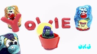 YOWIE Surprise Toys Clay Stop Motion Animation Surprise Eggs Video