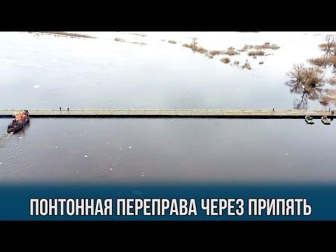 Военные возвели понтонный мост через Припять