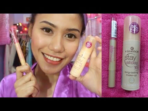 ESSENCE 16HRS STAY ALL DAY FOUNDATION & STAY NATURAL CONCEALER (TAGALOG REVIEW)   Purpleheiress