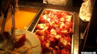 [HD] Lucky Lobster Buffet - Pala Casino - Pala Choice Buffet Tour - Lobster Festival