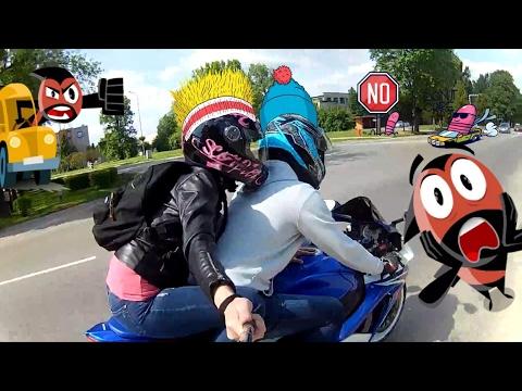 Прокатил красивую девушку на мотоцикле, новый GSX-R750 L0