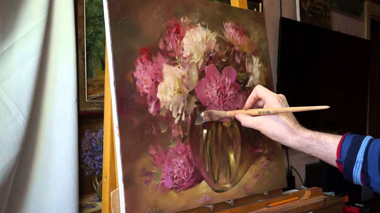 Фото цветы рисование маслом