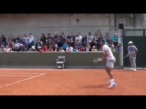 Rafael Nadal practice kids day at Roland Garros 2015 HD