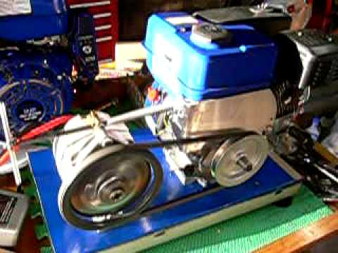 Home built generator  battery charger using Permanent Magnet Alternator  6.5 hp engine