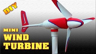 Mini Wind Turbine Homemade DIY How to make free energy generator Small Wind Mill