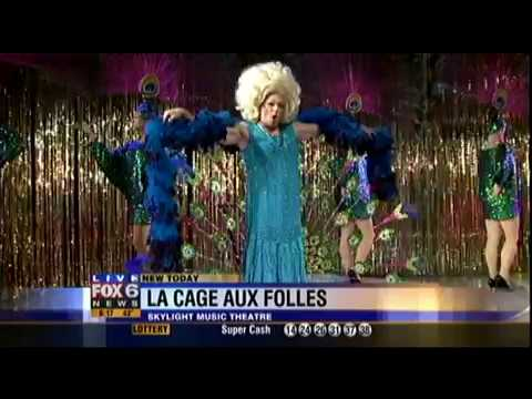 "Learning to Walk in Heels and Gorgeous Peacocks with ""LA CAGE AUX FOLLES"" on Fox 6 WakeUp"