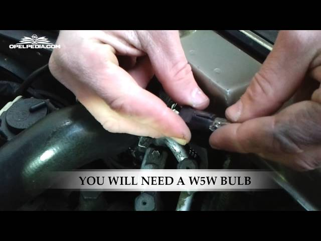 How To Replace Parking Light Bulb - YouTube