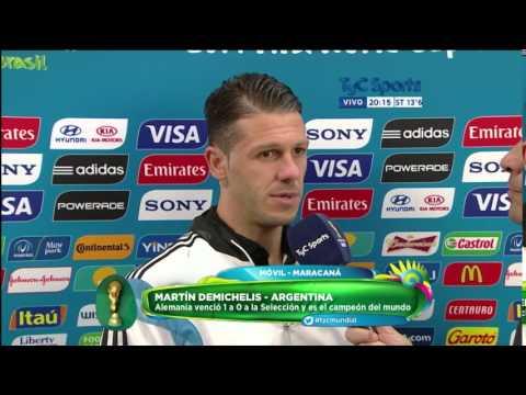 Brasil 2014: Martin Demichelis despues de la derrota en la final (TyC Sports)