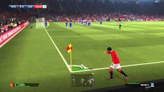 Геймплей PES 2015 матч МЮ - Челси
