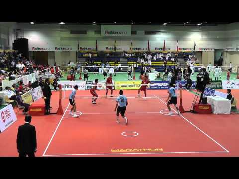 Sepak Takraw King's Cup 2012 - Thailand Vs. Malaysia - 2nd Regu (team Event) video