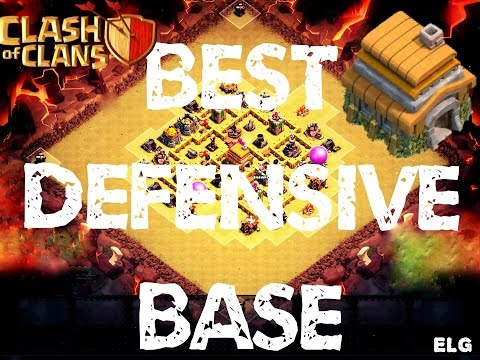 Clash of Clans - Best Trophy/War Base - Town Hall 6 - Best Defensive Base EVER!