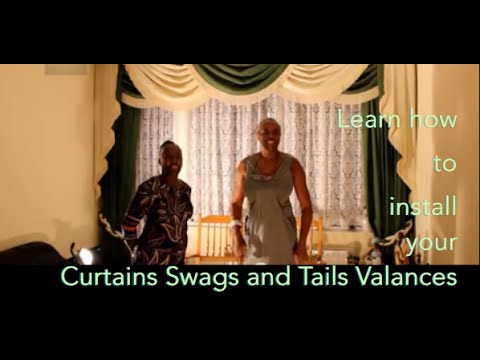 learn how to install your curtains swags and tail valances youtube