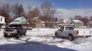 Truck Dancing, Donuts in snow