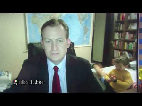 [엘렌쇼]BBC 방송사고_켈리 가족 (한글자막 O)
