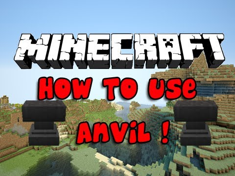 Minecraft 1.4 Tips - How To Use Anvil - Repair & Rename