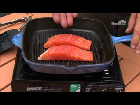 The Shed Online – Cooking – Salmon on a camp stove
