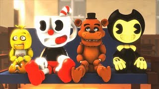SFM Bendy and the Ink Machine & Cuphead: Five Nights at Freddy's & Bendy SCHOOL Animation