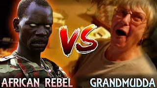 Grandma Watches Herself Get Pranked by African Rebel!