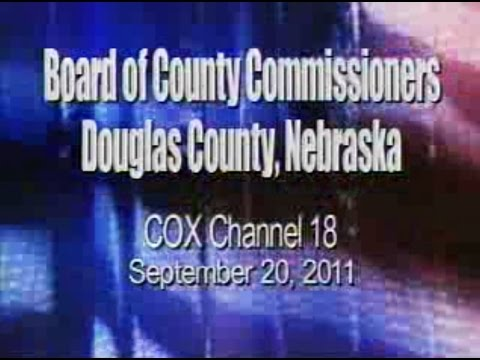 Board of County Commissioners, Douglas County Nebraska, September 20, 2011 Meeting