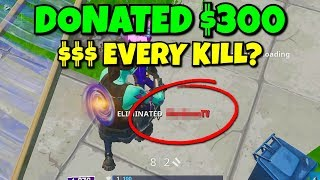 i killed this ttv streamer and donated every kill he got... (annoying)