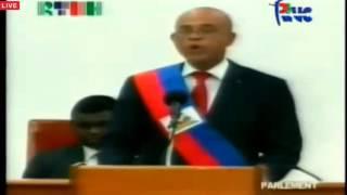 VIDEO: Haiti - Michel Martelly: son Discours d'Adieu a la Nation