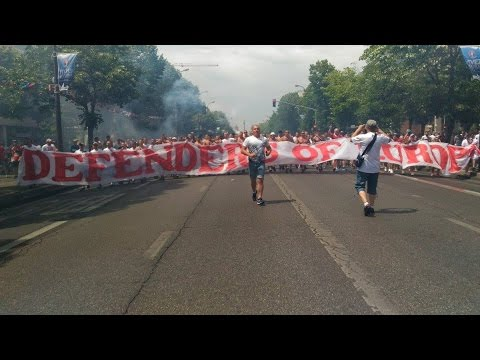 Euro 2016 Polish fans march and trouble with police in Marseille before Ukraine Poland