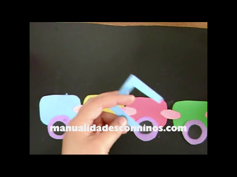 Manualidades de papel para decorar el salón: tren-decorativo de colores