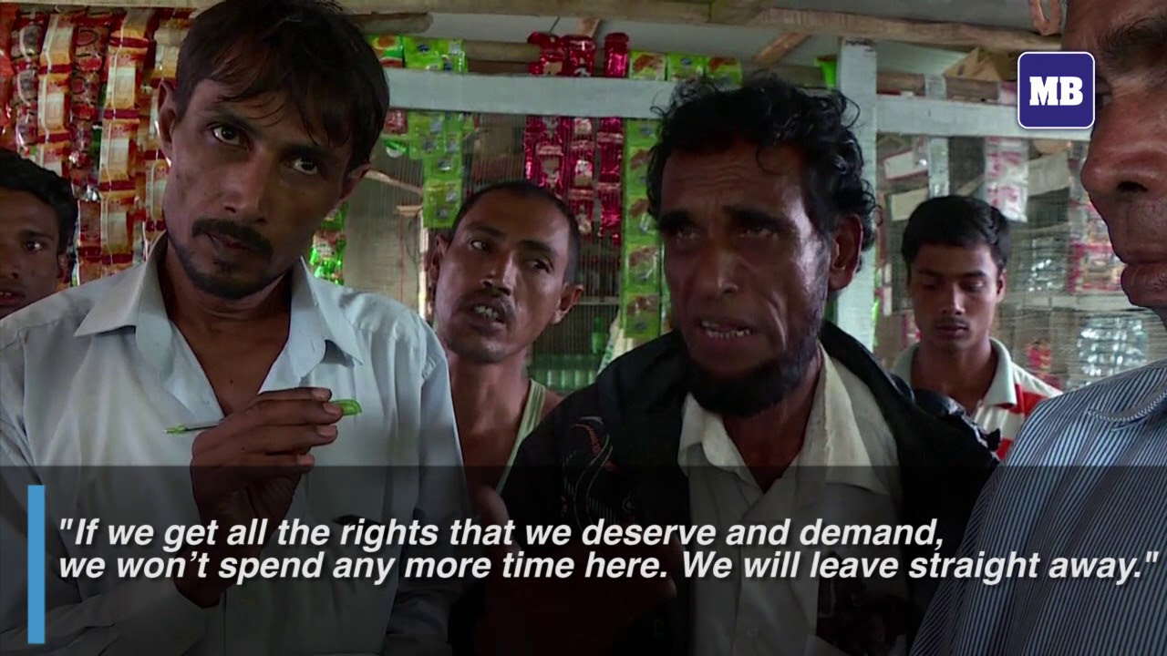 Rohingya refugees react to Suu Kyi's pledge of repatriation