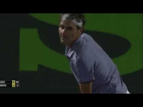 Roger Federer Backhand Vs Kei Nishikori - Miami 2014 HD