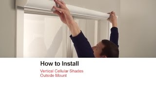 bali blinds how to install vertical cellular shades outside mount