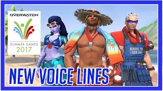 Overwatch - Summer Games 2017 All Voice Lines